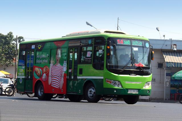 Xe bus 14 Miền Đông 3 tháng 2 Miền Tây