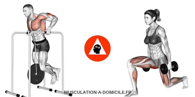 musculation-a-domicile.fr_methode-fitness-poids-du-corps-haltere-dips-homme-leste-fentes-avant-femme-haltere