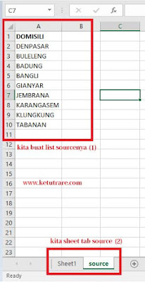 Cara Membuat Drop Down List di Excel