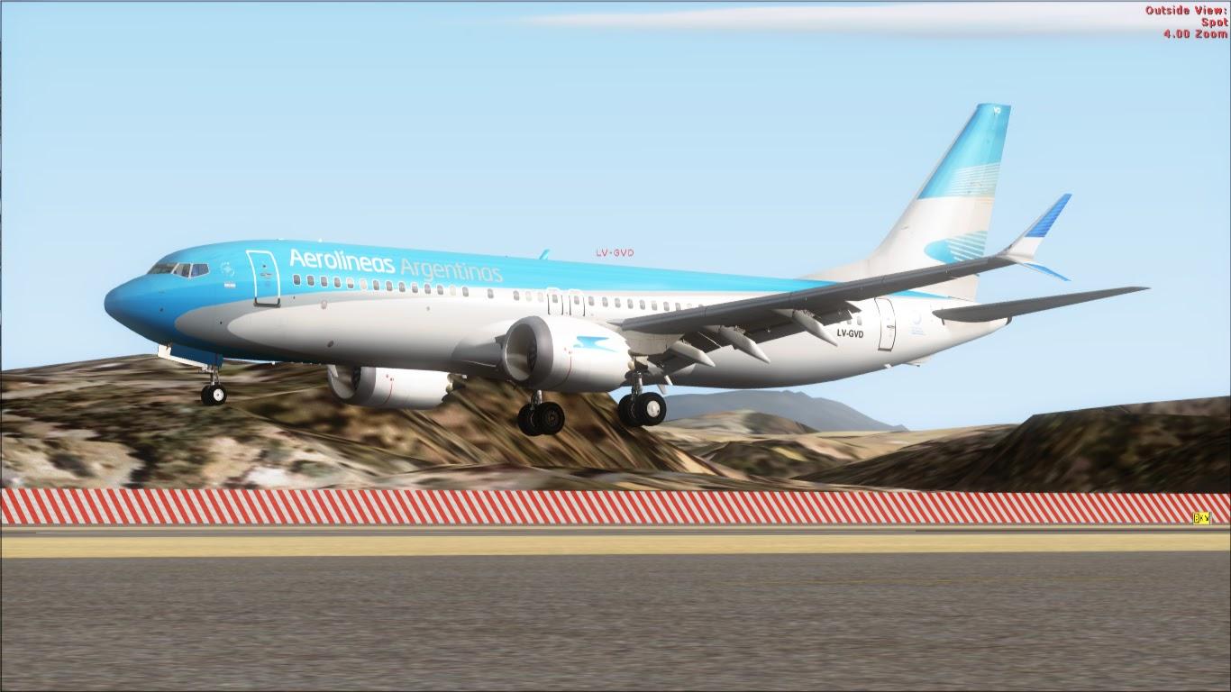 FlyRepaints : TDS- Boeing 737-8 MAX Aerolineas Argentinas LV-GVD