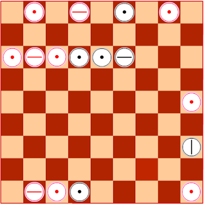 STATISTICS OF BASIC LAYPUTS IN THE STANDARD GEOMETRIC CHESS