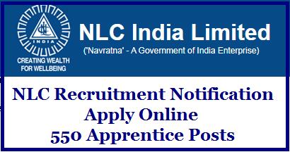 Neyveli Lignite Corporation (NLC) Recruitment 2020 – Apply Online for 550 Apprentice Posts