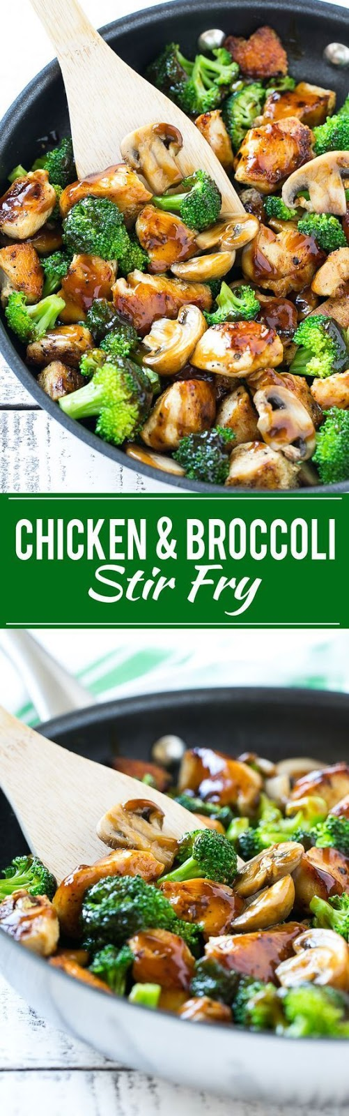 This recipe for chicken and broccoli stir fry is a classic dish of chicken sauteed with fresh broccoli florets and coated in a savory sauce. You can have a healthy and easy dinner on the table in less than 30 minutes!