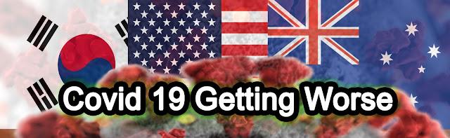 COVID-19 update - USA, Australia and S. Korea getting worse in Coronavirus