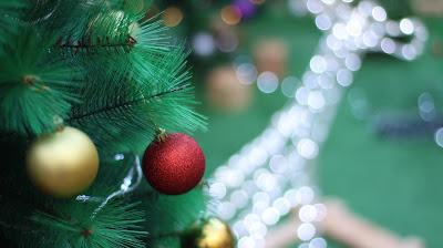 decoración navidad 2018 reno árbol y bolas