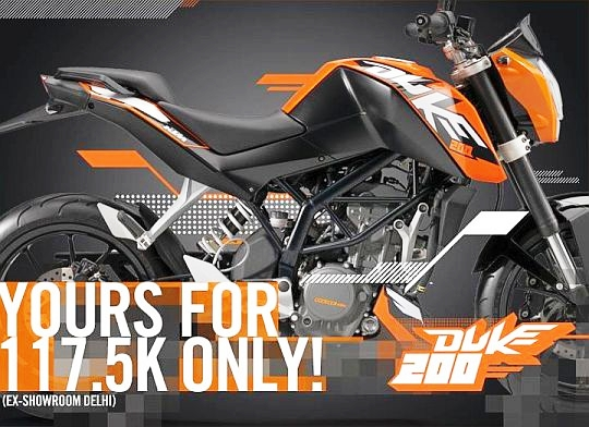 bikers zone: ktm duke 200