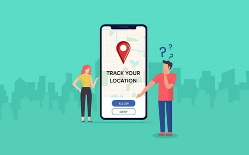 What data does the location tracker app collect in the phone?