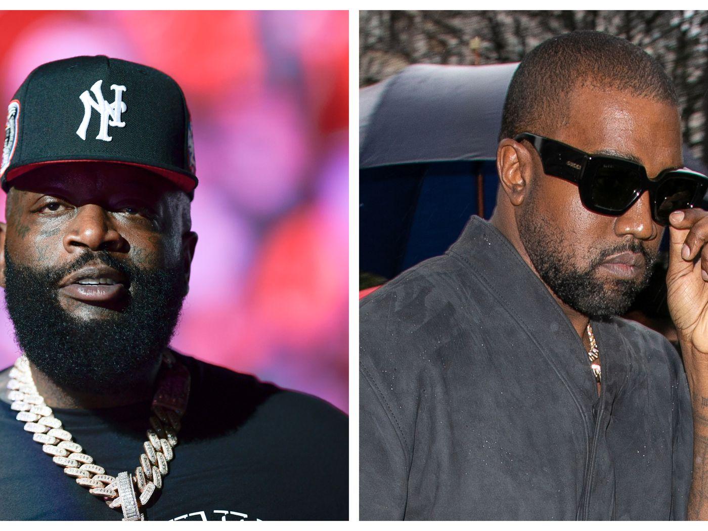Left: Rick Ross | Right: Kanye West