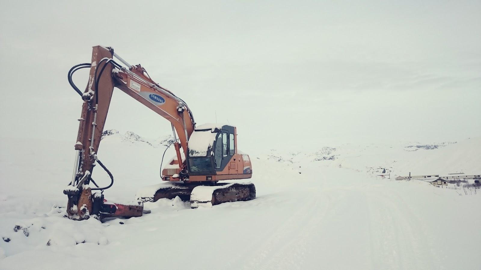 islandzki krajobraz, praca w Islandii