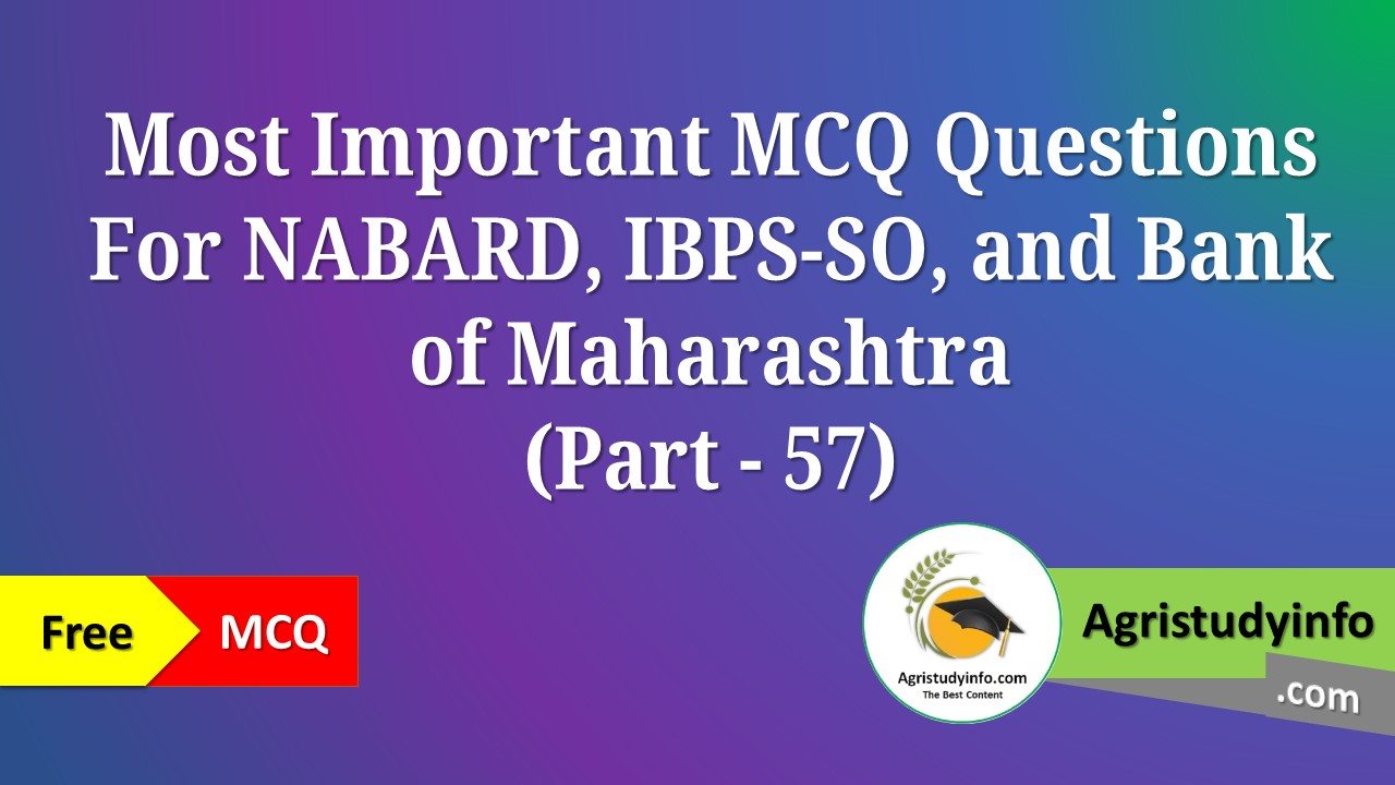 Read more about the article Most Important Questions for IBPS-SO/AFO, BOM, NABARD