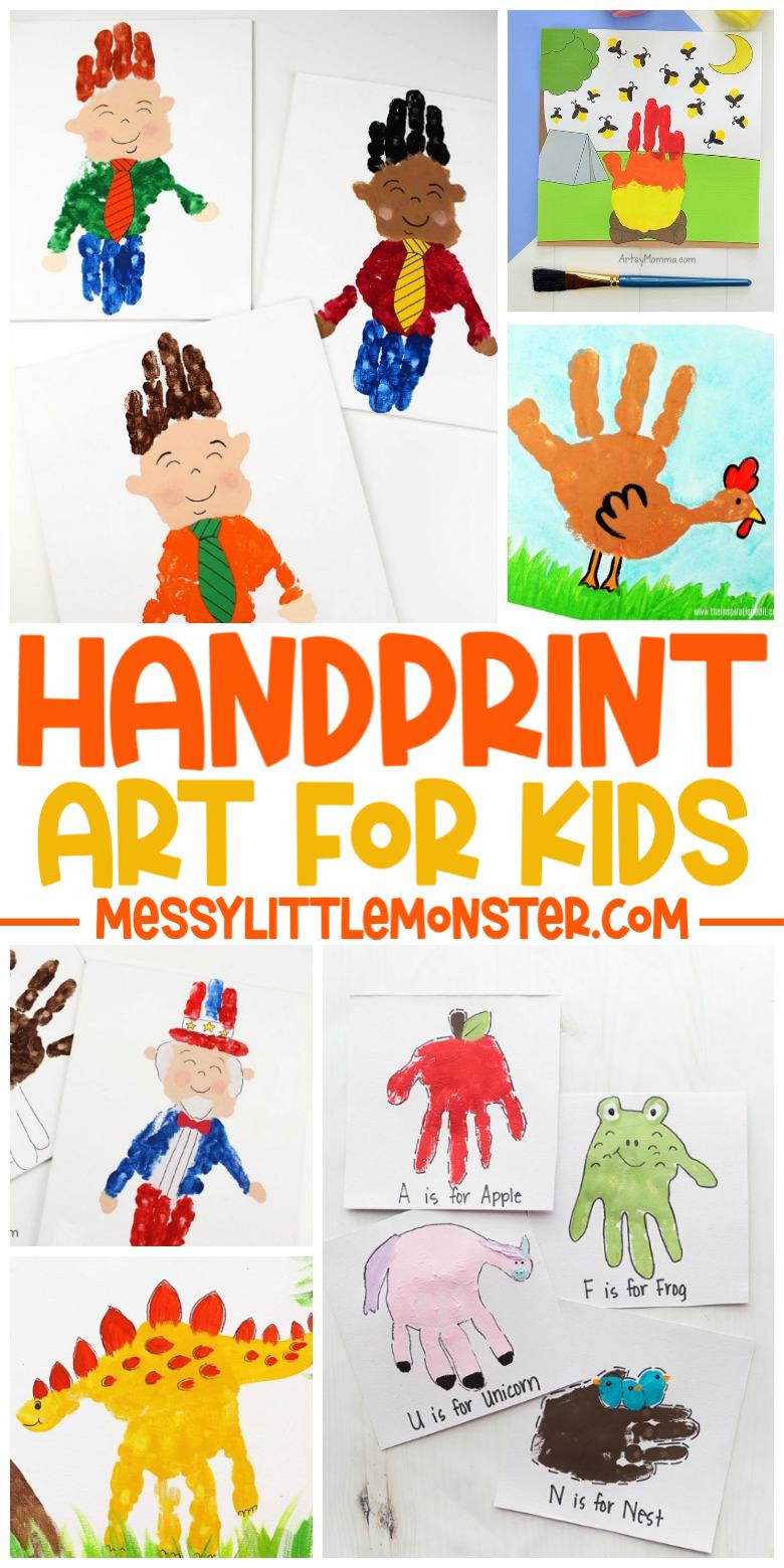 handprint art ideas for kids