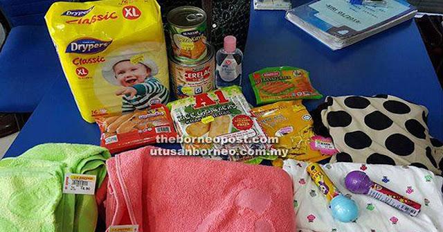 Wanita ditahan curi barangan bayi di pasar raya