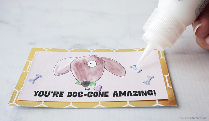 Laura Kelly Kindness note with Deco Foil Adhesive