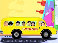Resultado de imagen de dibujos de niños de excursión