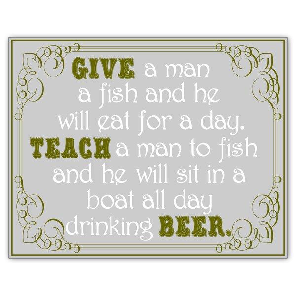 Give a Man a Fish Sign Wall Decor