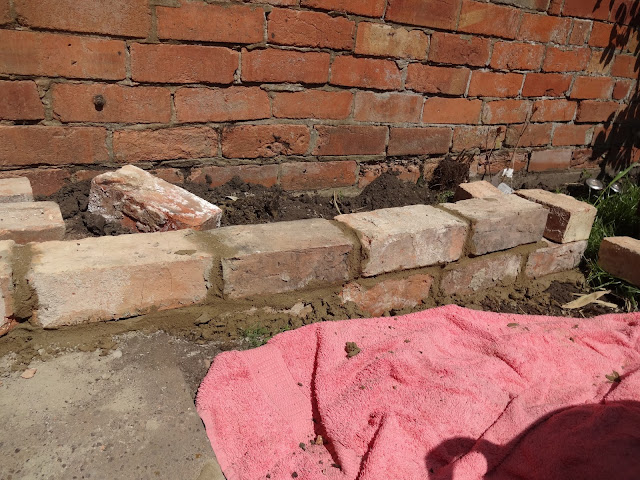 bricklaying in the garden