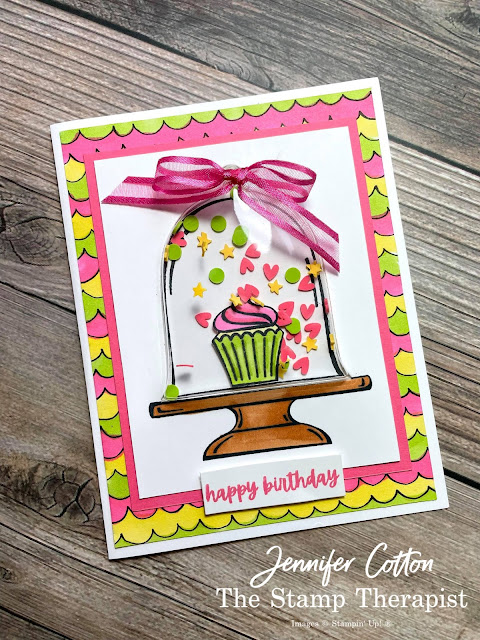 Sale a Bration 2021 Beautifully Penned DSP Designer Series Paper; Sweets & Treats; Classic Cloche; Cloche Dies; Stampin' Blends; Shaker Shapes; Cloche Shaker Domes.  #StampinUp #StampTherapist #ClassicCloche #Sweets&Treats