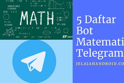 5 Daftar Bot Matematika Telegram Gratis