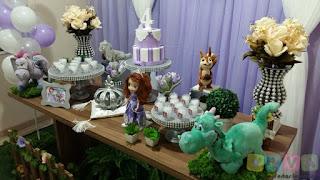 Decoração festa infantil Princesinha Sofia