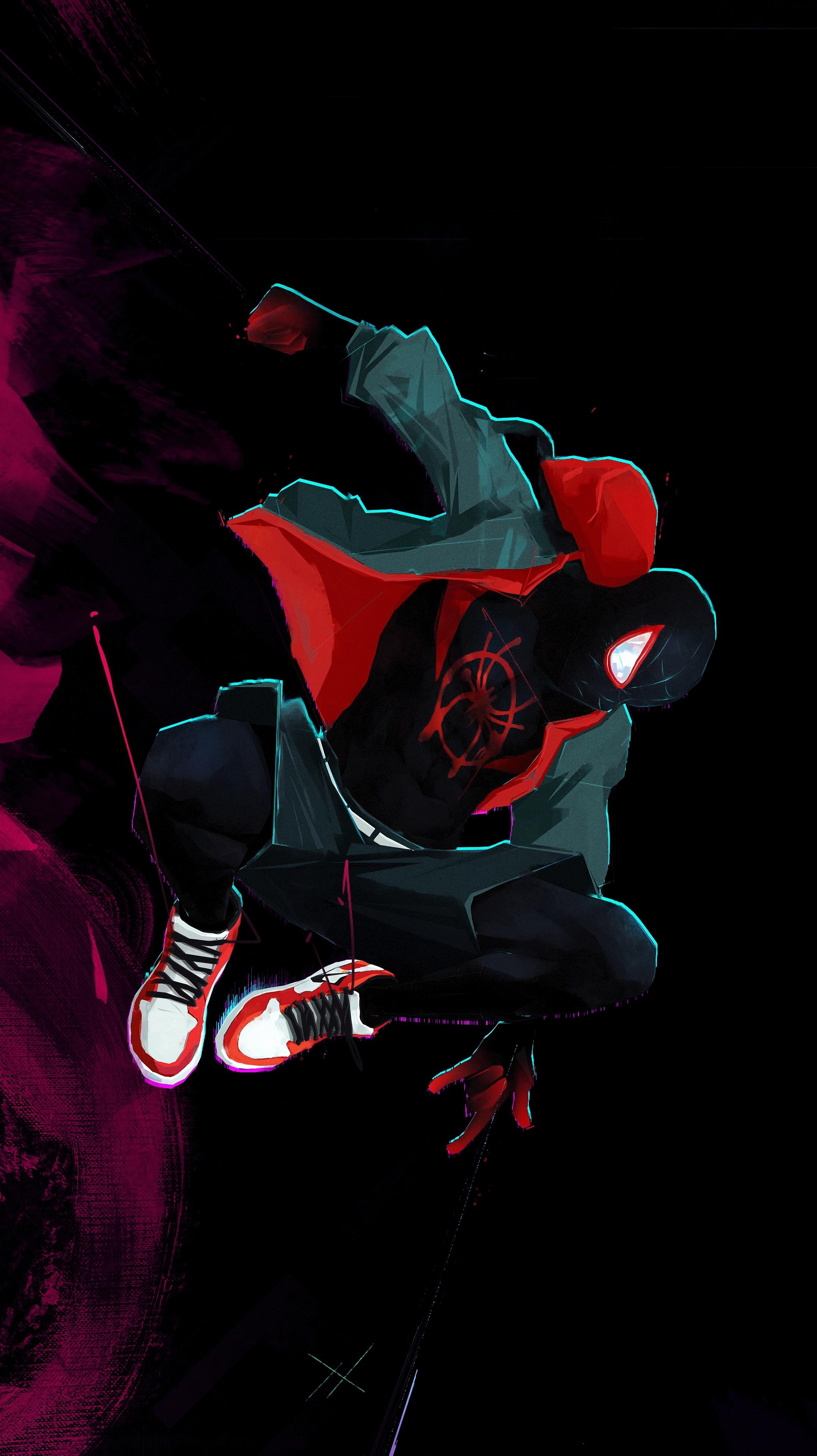 Spiderman digital art mobile wallpaper