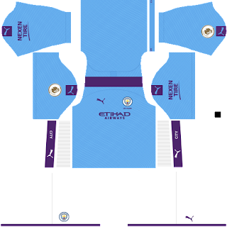 Manchester City 2019 - 2020 DLS/FTS Dream League Soccer Kits and Logo