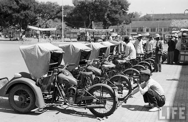 Sài gòn ký ức ngày xưa năm 1975 với những chiếc xích lô máy