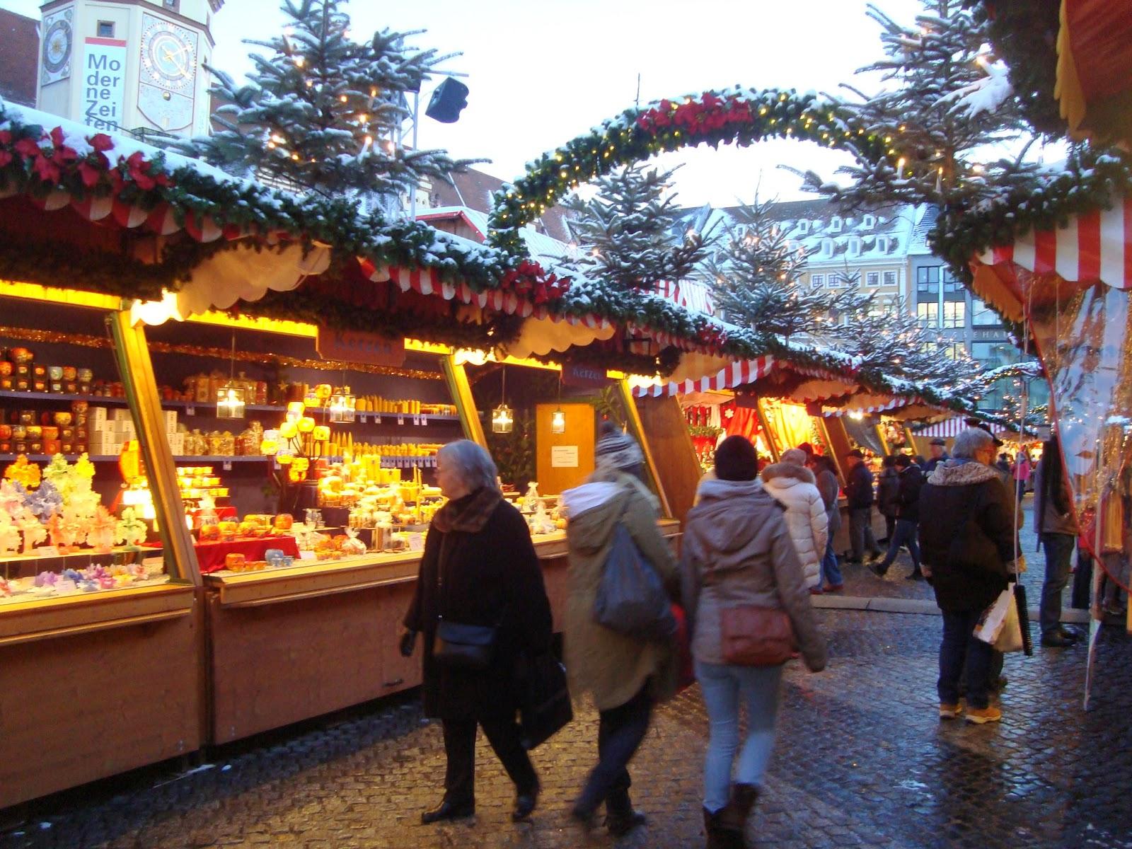 Stalls at the Leipzig Christmas Market