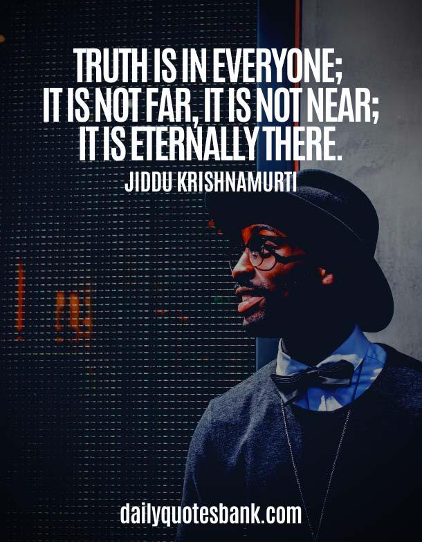 Best Jiddu Krishnamurti Quotes