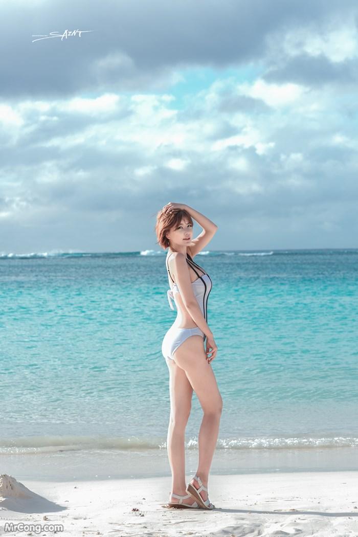 Image Ryu-Ji-Hye-Hot-Thang-4-2017-MrCong.com-002 in post Người đẹp Ryu Ji Hye nóng bỏng khoe dáng cùng trang phục tắm biển 4/2017 (35 ảnh)