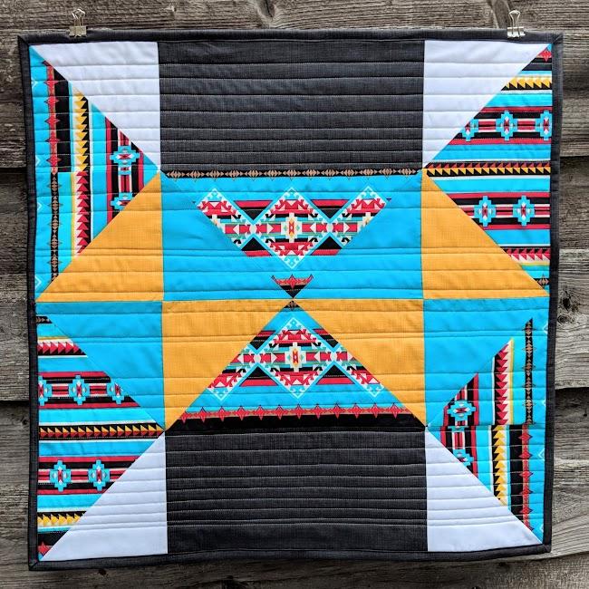 Southwestern modern mini quilt