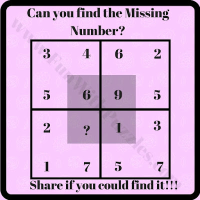 Missing number in square puzzle question