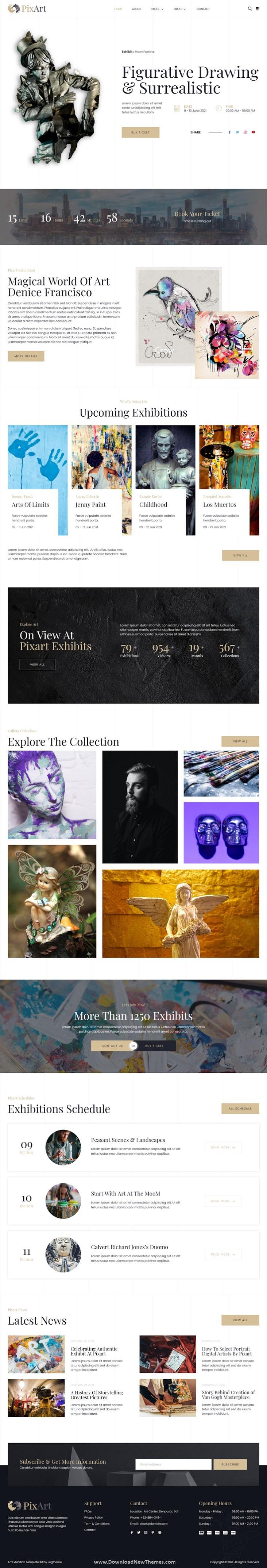 Arts & Crafts Exhibition Elementor Template Kit