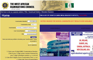 waec result checker portal