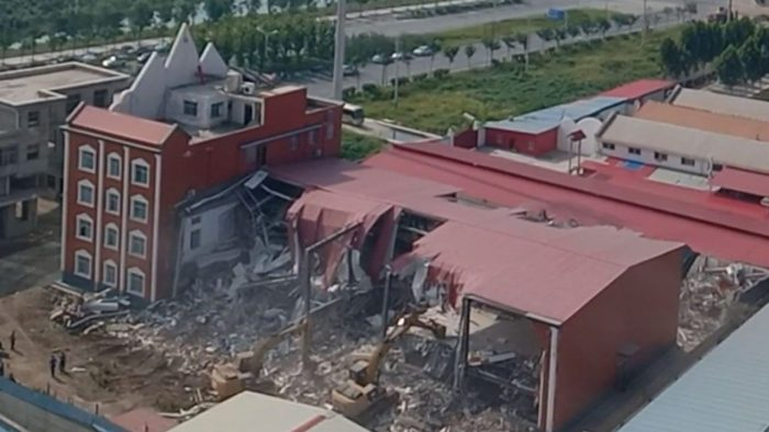 Chinese Authorities Demolish Entire Church Building