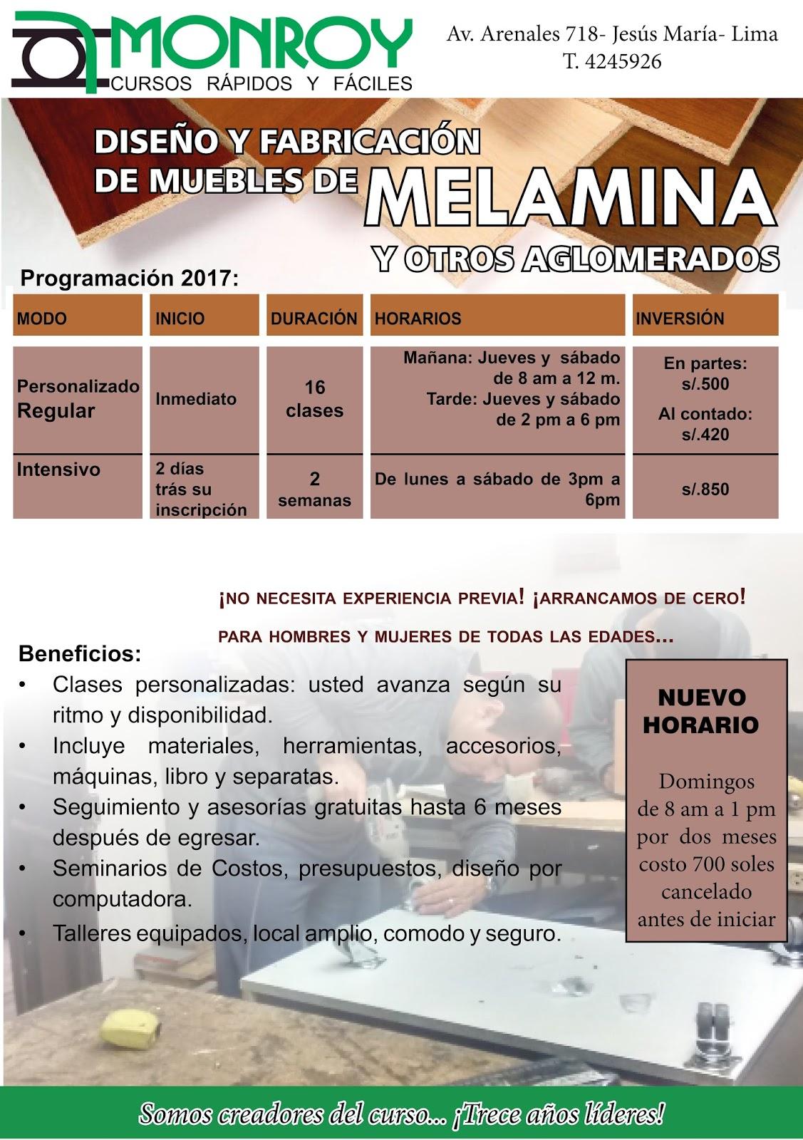 Cursos T Cnicos Monroy Curso De Melamina