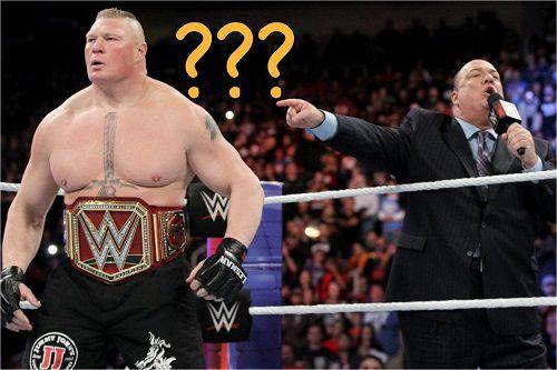 Brock Lesnar Opponent for Royal Rumble 2018