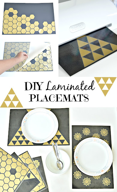 DIY Laminated Placemats