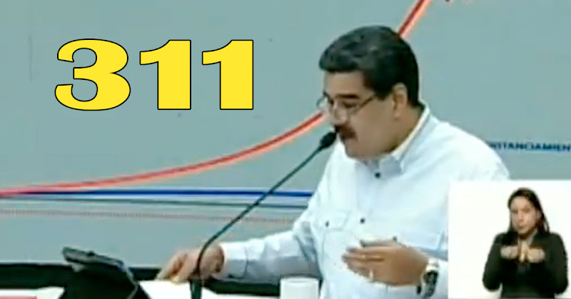 Dictador maduro anuncia 311 casos del  virus en todo el país