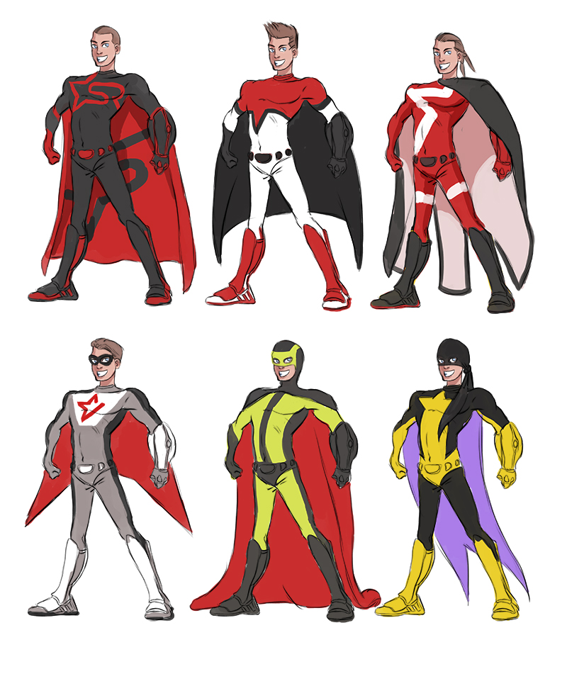 Let's Animate: Superhero Designs (not used)