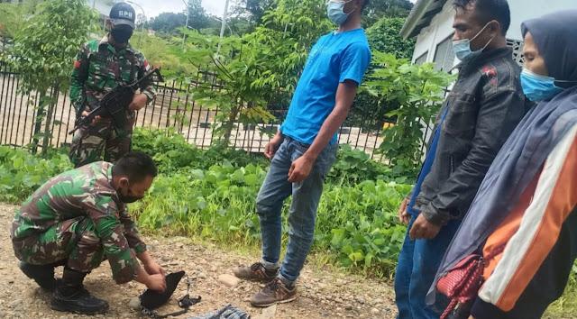 Tiga Orang Pelintas Batas Ilegal Diamankan Satgas Yonif 642 Kapuas di Entikong