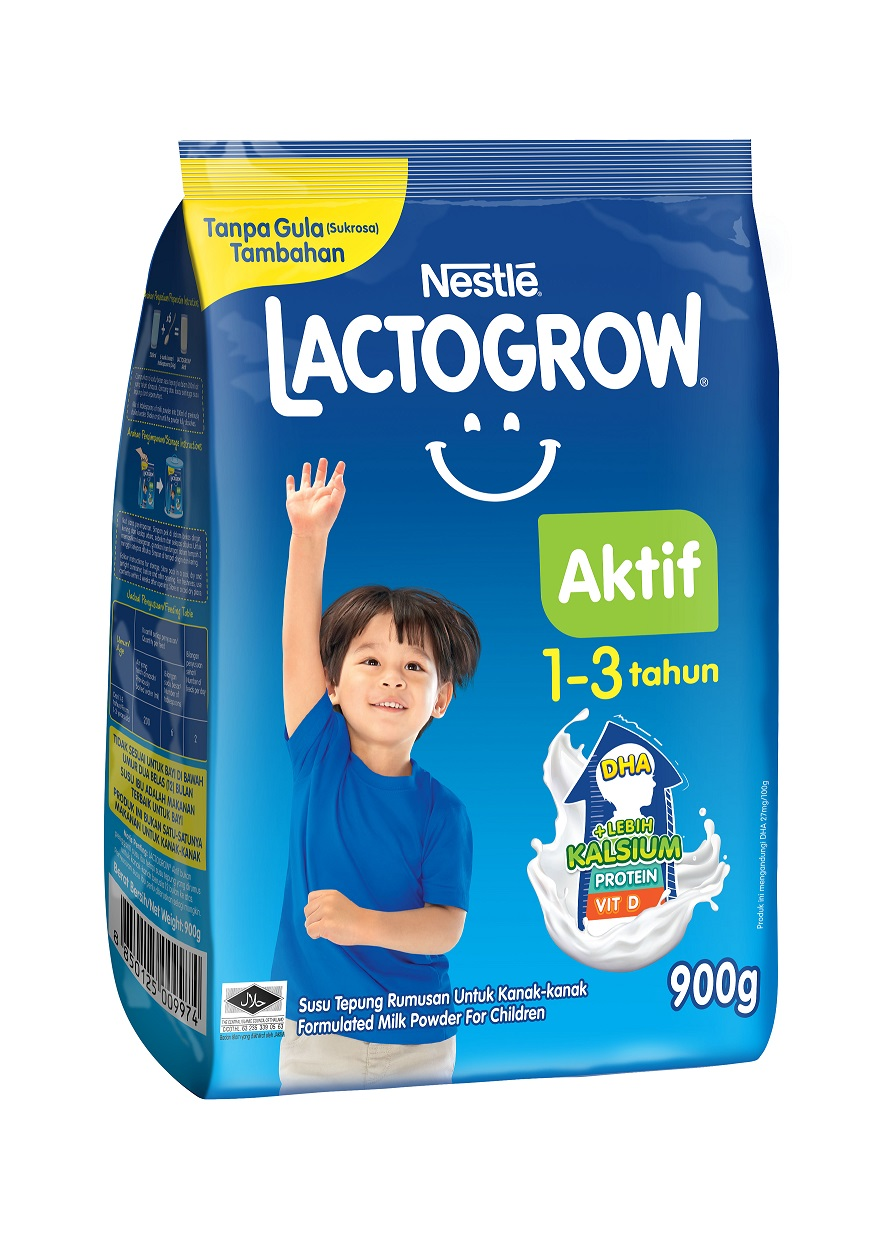 Introducing NESTLÉ LACTOGROW® Aktif:  A Growing-up Milk Formulated To Help Children Achieve More Growth With More Calcium*