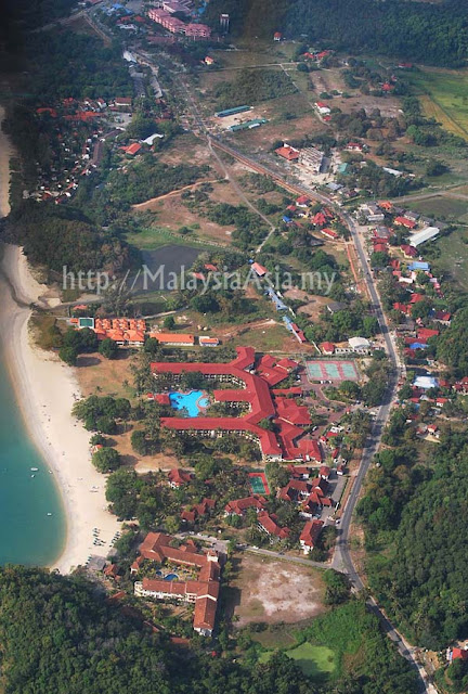 Birds Eye View Pantai Cenang Langkawi