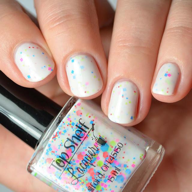 neon glitter crelly nail polish