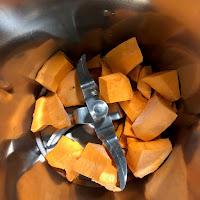 Morceaux de patates douces dans le Thermomix