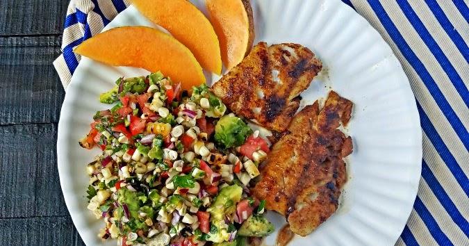Cajun Spiced Cod With Charred Corn Salad