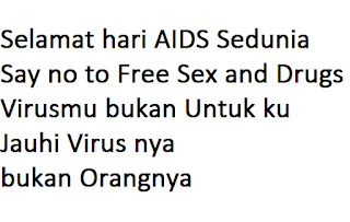 ucapan hari aids dunia