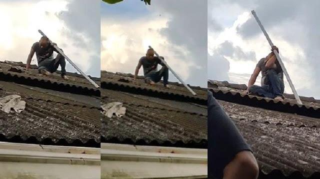 Apes! Coba Mencuri di Rumah Seorang Muadzin, Maling ini Malah Terperangkap di Atap Selama 6 Jam Tak Bisa Turun