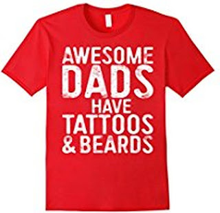 buy mens awesome dads have tattoos and beards funny t shirts