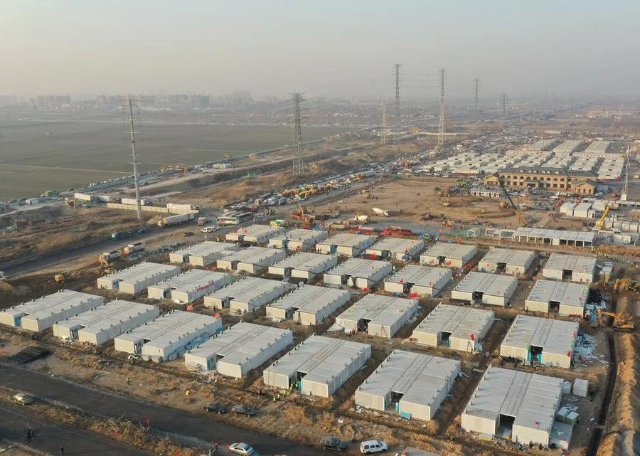 Ditadura Chinesa ergue 'Centro de Quarentena'