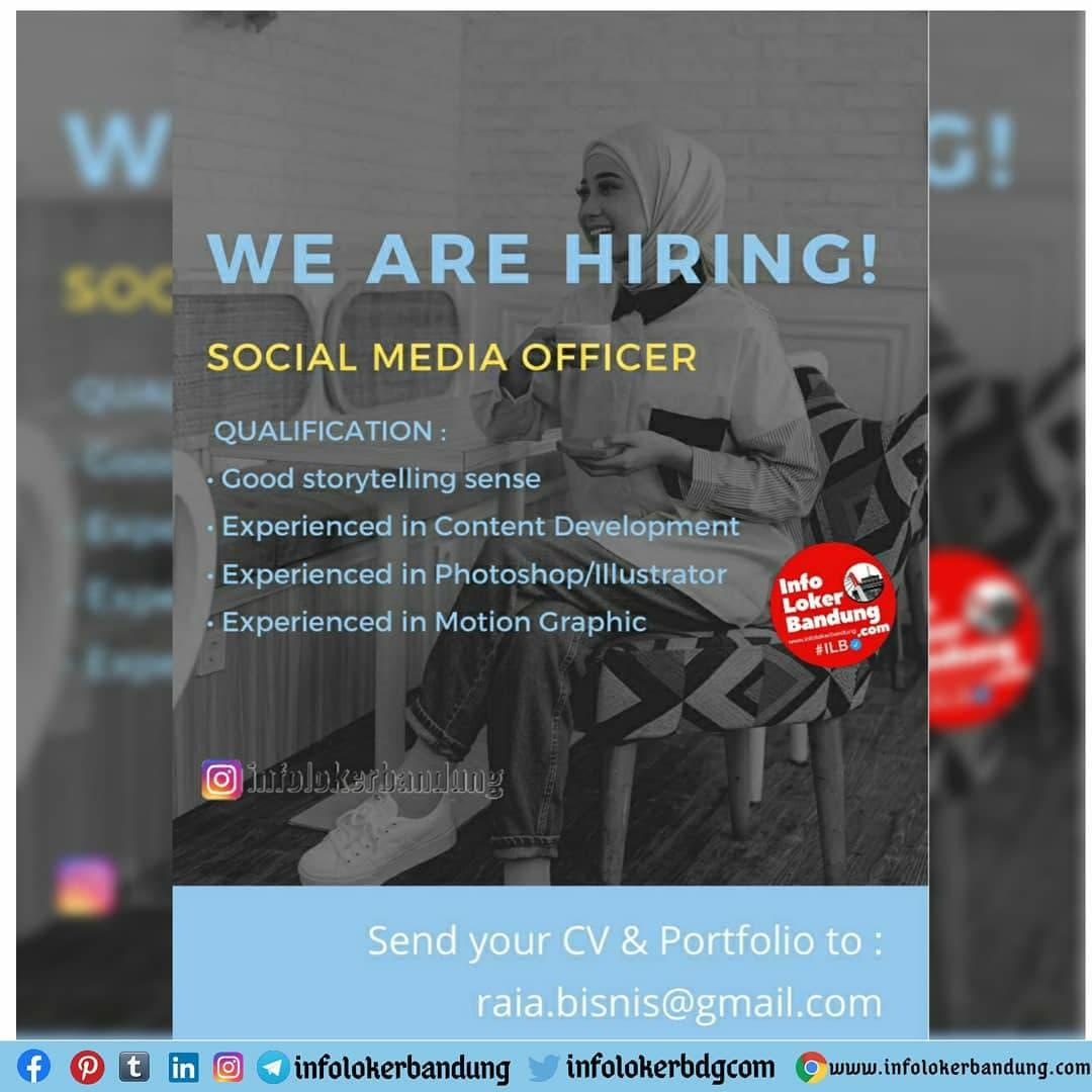 Lowongan Kerja Raia ID Store Bandung Januari 2021